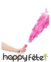 Canon à confettis roses de 20 cm