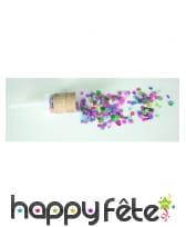 Canon à confettis roses et colorés de 20 gr, image 1