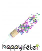 Canon à confettis roses et colorés de 20 gr