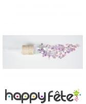 Canon à confettis violets verts roses irisés, image 1