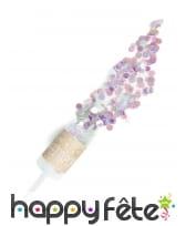 Canon à confettis violets verts roses irisés