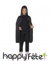 Cape à capuche noire, pour enfant, image 1