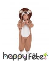 Combi avec capuche bébé lion enfant