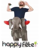 Costume à dos de éléphant gonflable, image 1