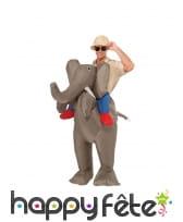 Costume à dos de éléphant gonflable, image 3