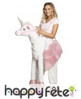 Costume à dos de licorne pour femme