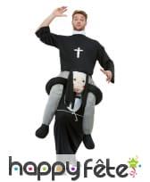 Costume à dos de religieuse pour adulte
