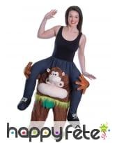 Costume à dos de singe taille adulte, image 2
