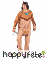 Costume adulte d'indien marron, image 1