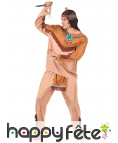 Costume adulte d'indien marron, image 2