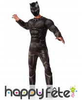 Costume adulte de Black Panther, luxe