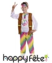 Costume arc-en-ciel de hippie pour enfant