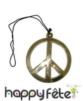 Collier avec grand pendentif hippie de 18cm