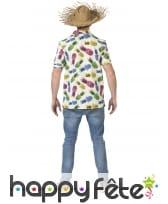 Chemise ananas multicolore pour homme, image 1