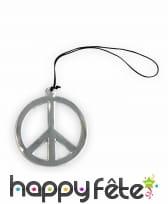 Collier avec pendentif peace and love argenté, image 2