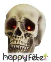 Crâne aux yeux lumineux