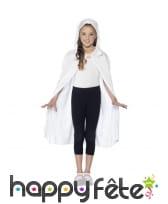Cape blanche à capuche, pour enfant, image 1