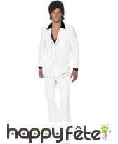 Costume blanc année 70. crooner