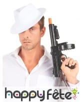 Chapeau borsalino blanc uni pour adulte, image 3