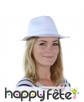 Chapeau borsalino blanc uni pour adulte