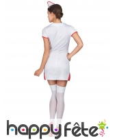 Combinaison blanche courte d'infirmière sexy, image 2