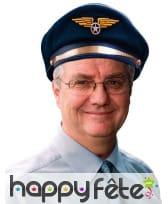 Casquette bleue de steward