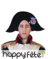 Chapeau bicorne de Napoléon imitation velours