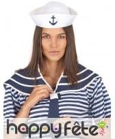 Col bleu de marin avec chapeau, image 1