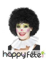Collerette blanche de clown