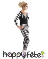 Combinaison bicolore d'arlequine noir et blanc, image 1