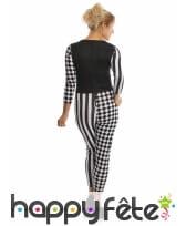 Combinaison bicolore d'arlequine noir et blanc, image 2