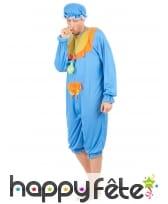 Costume bleu de grand bébé pour adulte, image 1
