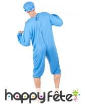 Costume bleu de grand bébé pour adulte, image 2