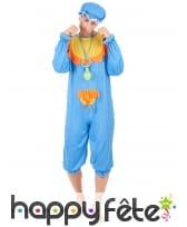 Costume bleu de grand bébé pour adulte