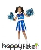 Costume bleu de petite pom pom girl