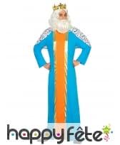 Costume bleu de roi mage pour adulte