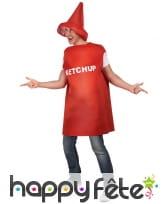 Costume bouteille de ketchup