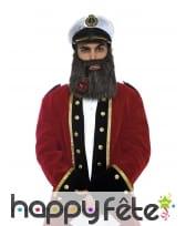 Chapeau, barbe et pipe de marin pour homme, luxe