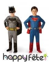 Costumes Batman et Superman pour enfant