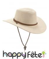 Cowboy beige en suedine, luxe