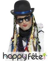 Chapeau Boy George, tresses multicolores