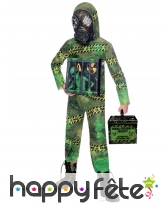 Combinaison bio hazard Alien enfermé pour enfant
