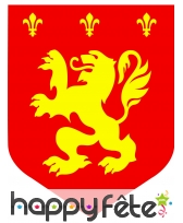 Cutout blason lion rouge de 30cm