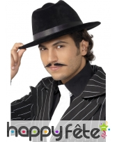 Chapeau borsalino noir gangster