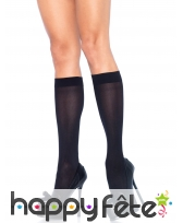 Chaussettes bas noirs opaques