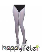 Collants blancs opaques pour adulte