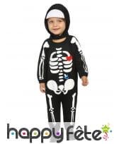Combinaison bébé squelette pour garçon