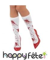Chaussette blanches tâchées de sang