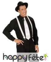Cravate blanche unie pour adulte