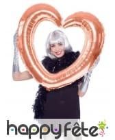 Cadre coeur à gonfler, pour photo, image 3